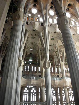 Interior del Templo Expiatorio de la Sagrada F...