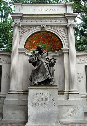 The Samuel Hahnemann Monument located at Scott...