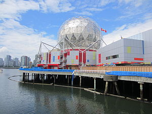 English: Science World viewed from Quebec stre...
