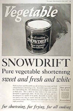 A 1918 advertisement for shortening.
