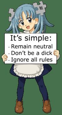 Wikipedia editor's rules