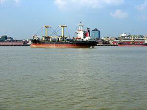 The Yangon River (also known as Rangoon River ...