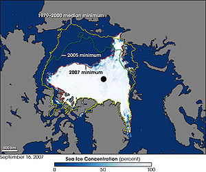 This image shows the Arctic as observed by the...
