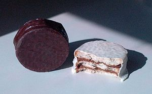 Different types of Alfajor candies