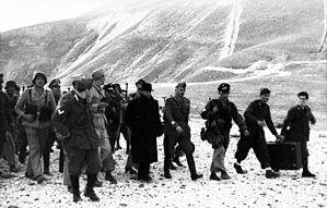 Mussolini rescued by German troops from his pr...