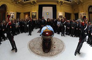 Español: La presidenta Cristina Fernández en l...