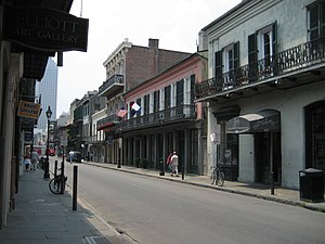 French Quarter, New Orleans: Royal Street with...