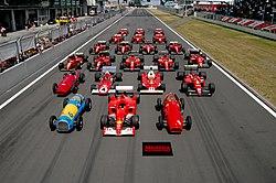 22 coches de Fórmula 1 usados por Ferrari a lo largo de su historia.