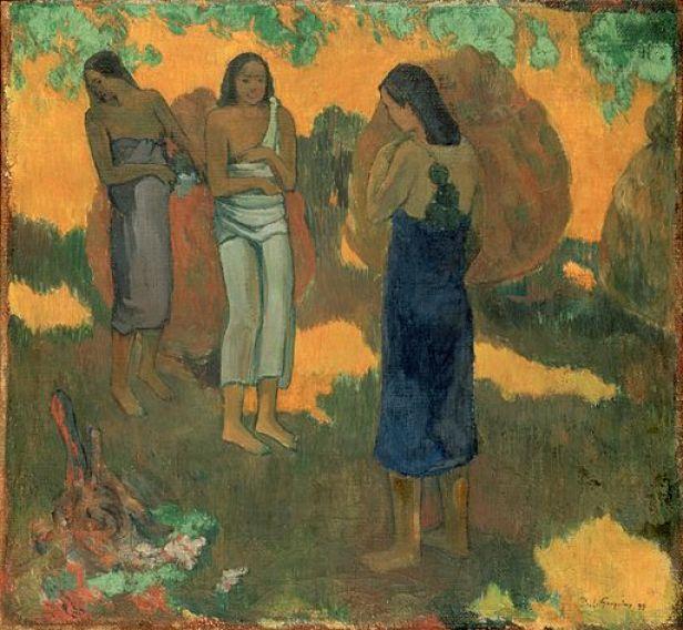 Gauguin, Paul - Three Tahitian Women Against a Yellow Background