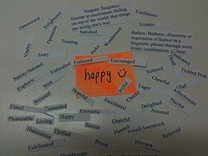 English: Emotions associated with happiness