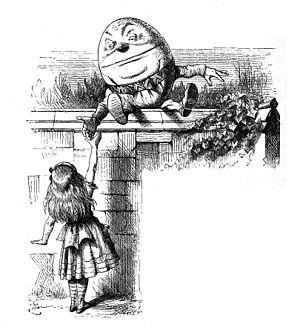 Humpty Dumpty and Alice. From Through the Look...