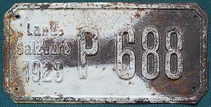 English: License plate of Austria 1928 Deutsch...