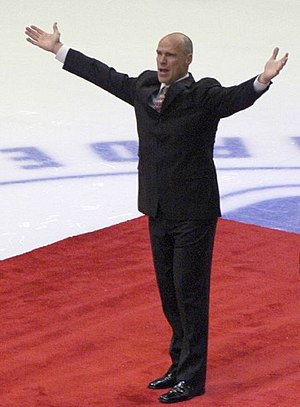 Mark Messier, Canadian hockey player, at his n...