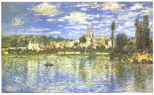 Monet - Ansicht von Vetheuil im Sommer