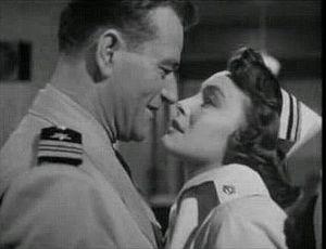 Screenshot of Patricia Neal and John Wayne fro...