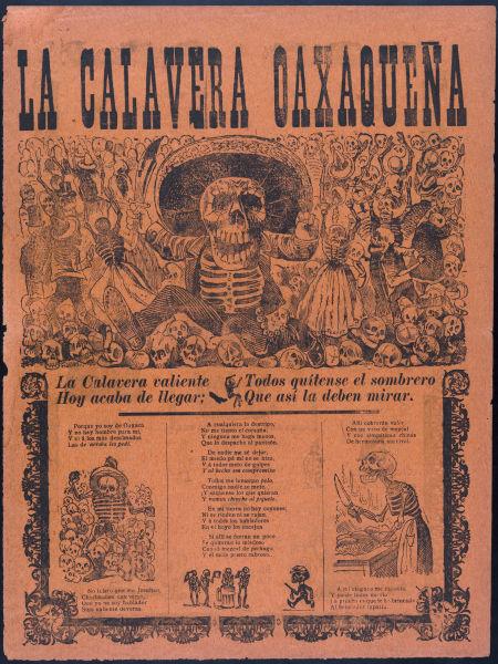 Una Calavera ilustrada por José Guadalupe Posada