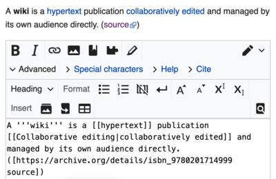 wikitexto usado en la Wikipedia