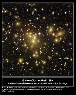 se ven los efectos de la materia oscura(lo borroso)