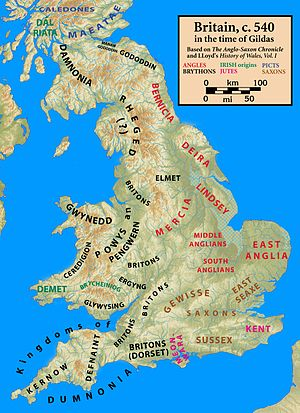 Britain, c. 540, in the time of Gildas