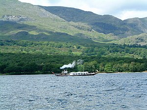 Coniston. The steam launch Gondola owned by th...