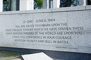 A quote delivered to servicemen by General Dwi...
