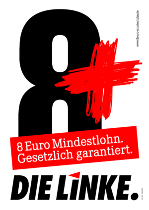 Poster of the Left Party in Germany Die Linke.