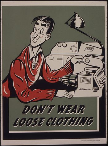 Don't wear loose clothing - NARA - 535340
