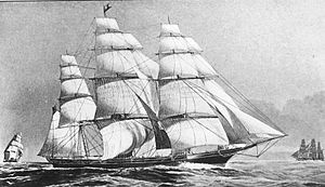 Flying Cloud, 1851 clipper ship