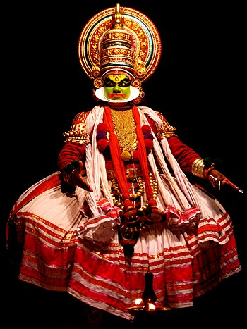 English: A Kathakali performer in the virtuous...