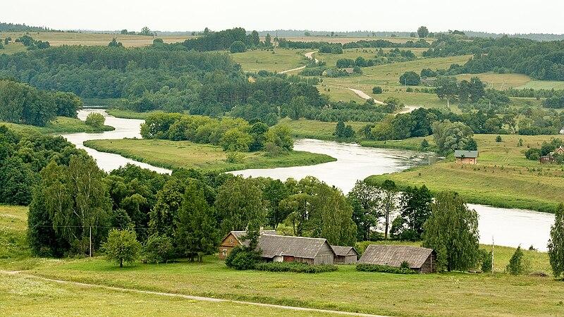 Vista del río Neris