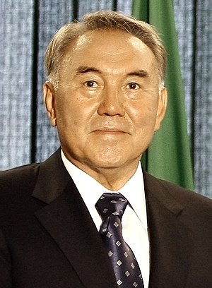 English: The president of Kazakhstan, Nursulta...