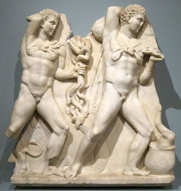 Sarcophagus Relief Depicting Labors of Hercules, 3rd-4th century C.E.; marble; Roman
