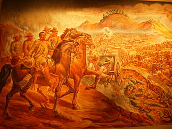 English: Painting of Taking of Zacatecas, the ...