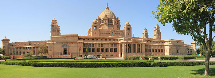 a panoramic view of umaid bhawan palace in 2015