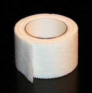 Albupore surgical tape, similar to Micropore.