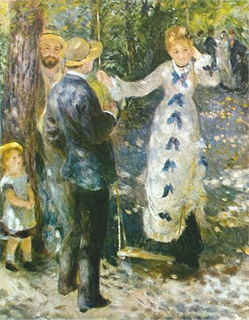 The Swing (La Balançoire), 1876, oil on canvas...