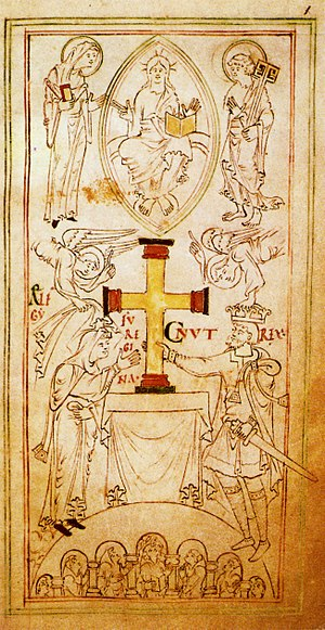 Cnut and Emma of Normandy, from the Liber Vita...
