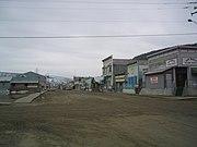 Dawson City, Yukon, pemandangan Aliran Emas Klondike.