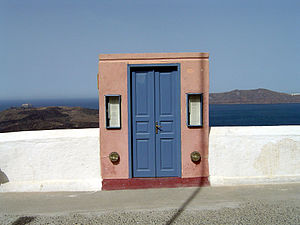 Door to heaven in Santorini