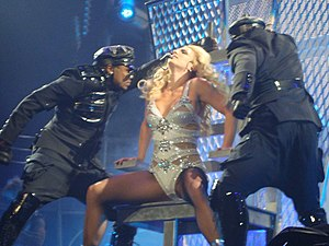 """English: Britney Spears performing """"Hold ..."""