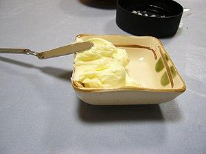 English: Hand-made_butter (バターづくり、完成したバター),北海道...