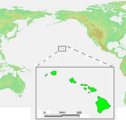 Vị trí của Hawaii
