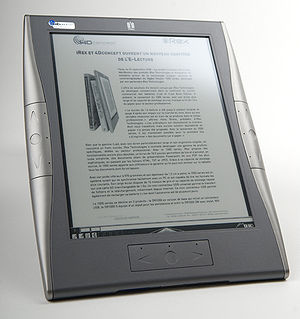 English: iRex Digital Reader 1000 e-paper devi...