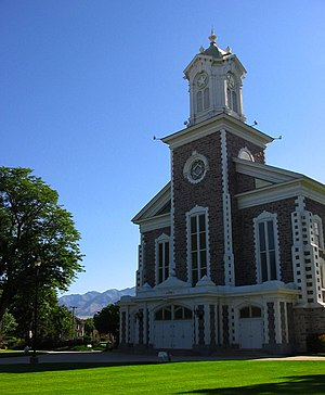 English: The , a meetinghouse of (LDS Church) ...