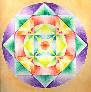 Mandala personalizado (Technique: Watercolours)