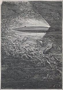 Une illustration de Vingt mille lieues sous les mers par Alphonse de Neuville