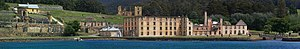 English: Panorama of the Port Arthur penal colony