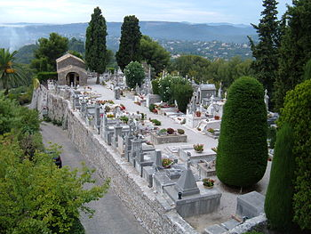 The cemetery of Saint-Paul de Vence, Alpes-Mar...