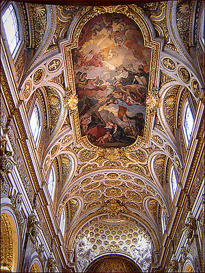 Interior of Church San Luigi dei Francesi, Rom...