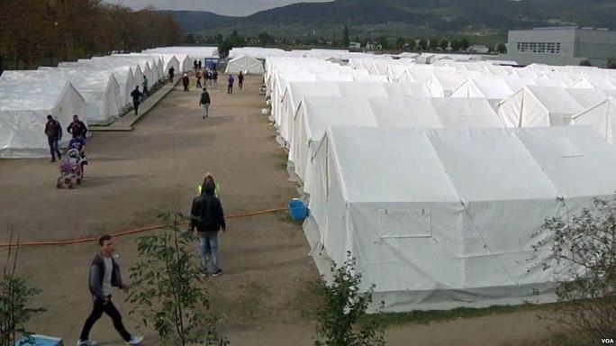 Traiskirchen refugee camp 2015